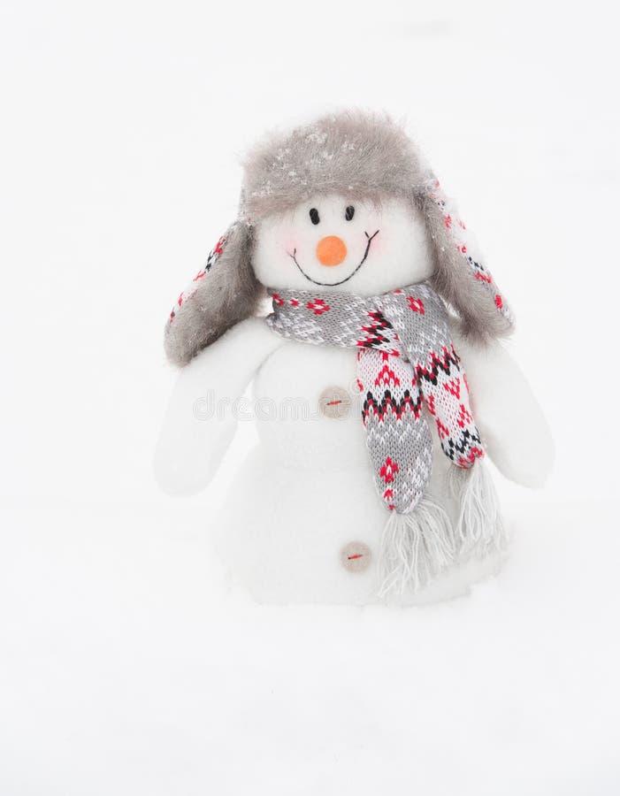 Boneco de neve feliz do inverno (espaço da cópia) fotos de stock royalty free