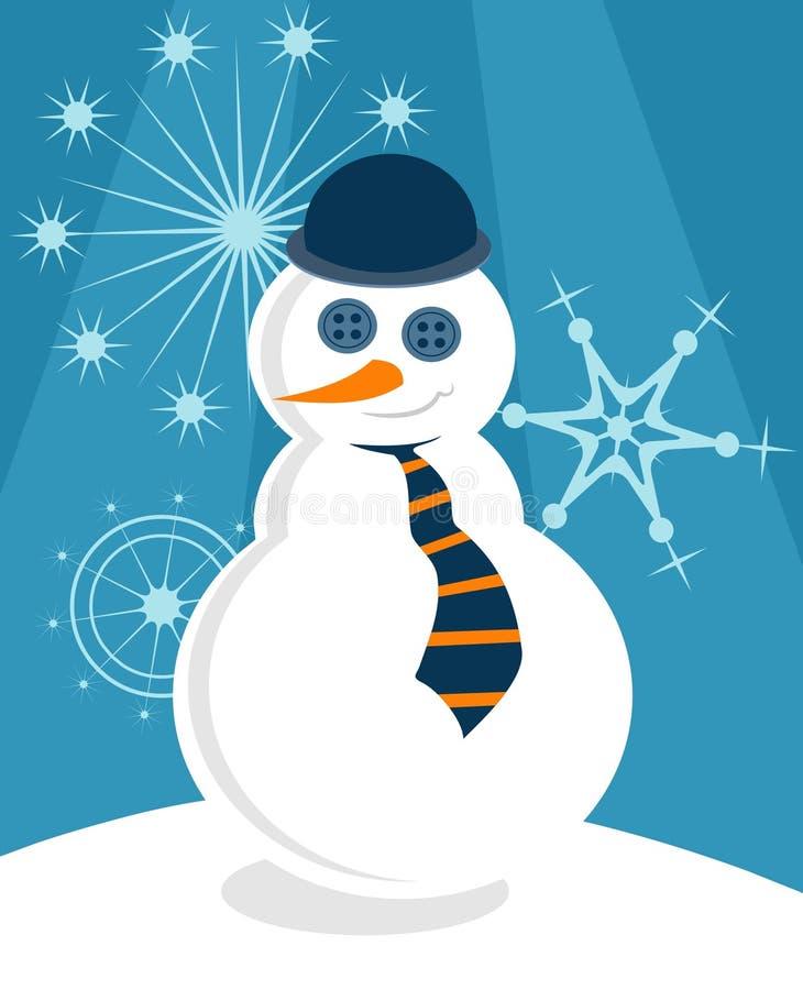 Boneco de neve fino ilustração stock