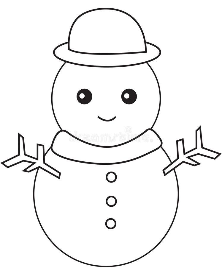Boneco de neve preto e branco ilustração royalty free