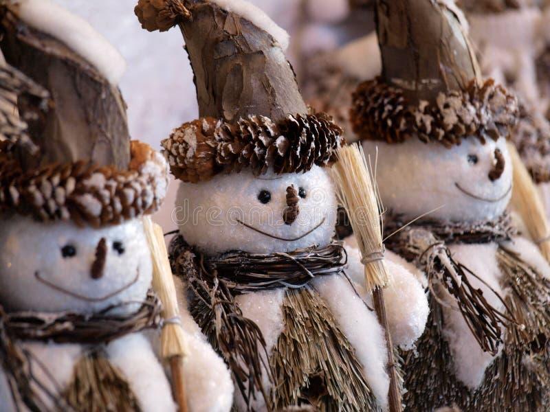 Bonecos de neve imagens de stock royalty free