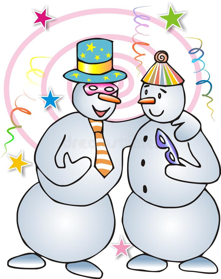 Download Bonecos de neve ilustração stock. Ilustração de máscaras - 26524624