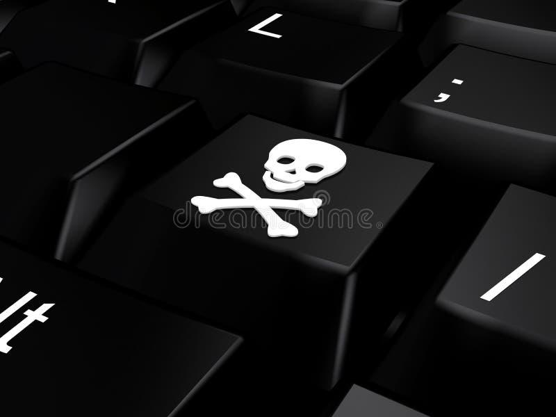 bones череп клавиатуры стоковое фото