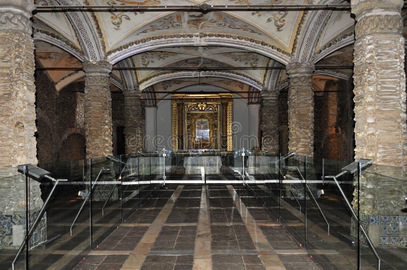 Bones chapel, Evora portugal stock photo