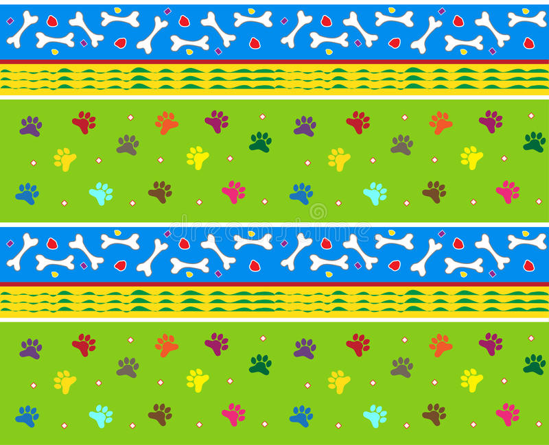 Download Bones And Paws Pattern Stock Image - Image: 34751411