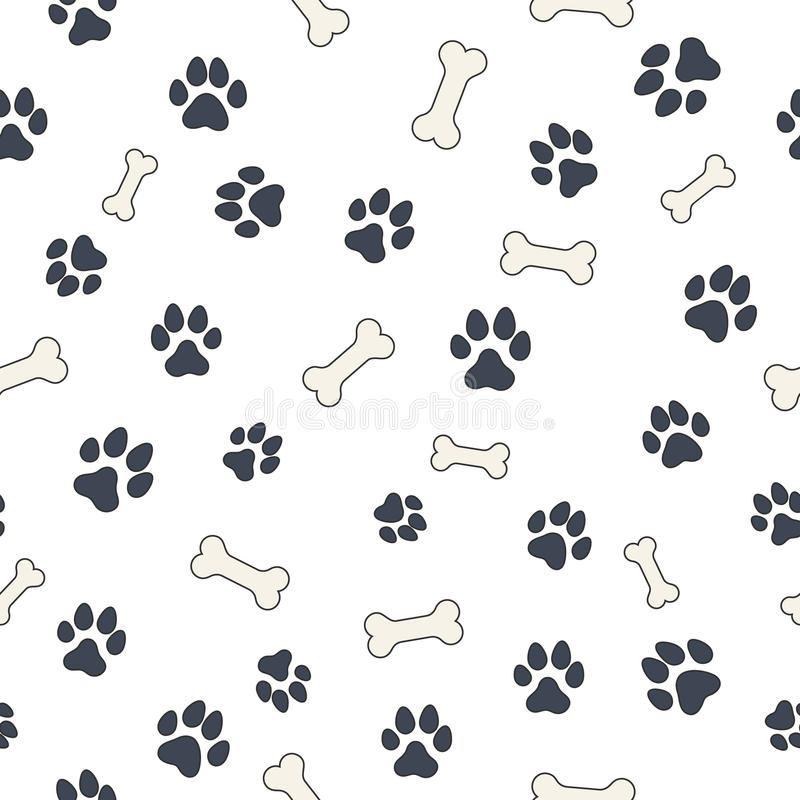 Download Bones And Paws Stock Vector Illustration Of Foot Step