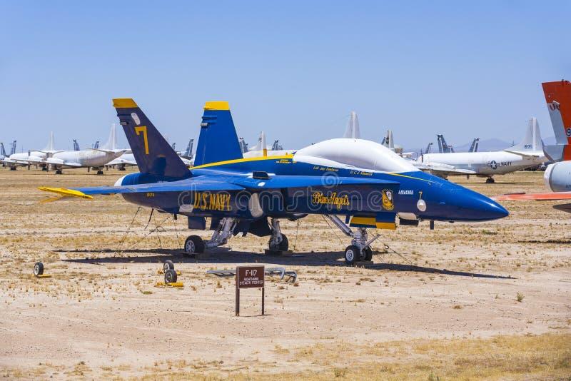 Boneyard della base delle forze aeree AMARG di Davis-Monthan in Tucson, Arizona fotografia stock libera da diritti