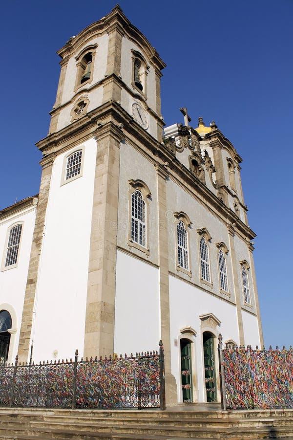 Bonfim教会在萨尔瓦多da巴伊亚,巴西 库存照片