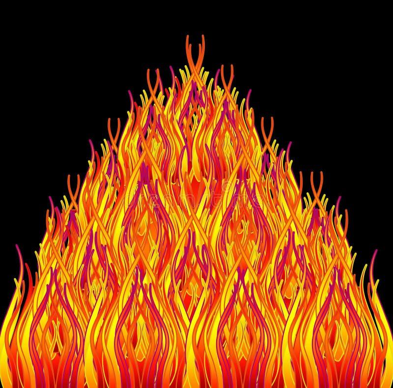 Download Bonfire stock illustration. Image of conceptual, word - 15829822