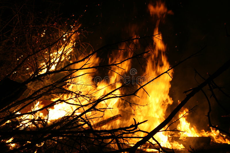 Download Bonfire stock image. Image of silhouette, burning, fawkes - 2194035