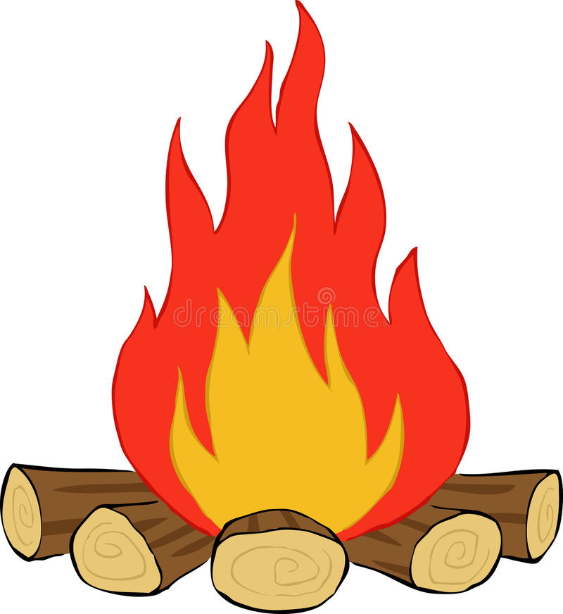 Bonfire. On a white background, vector royalty free illustration