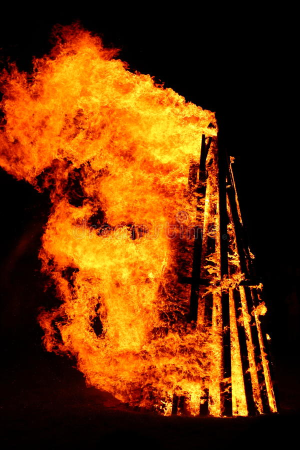 Download Bonfire stock image. Image of bonfire, dangerous, flame - 25908245