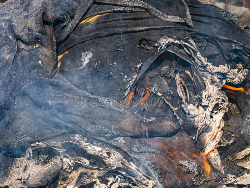 Bonfire and balefire. Village life. Abandoned places. Forgotten people. natural living. stock photography