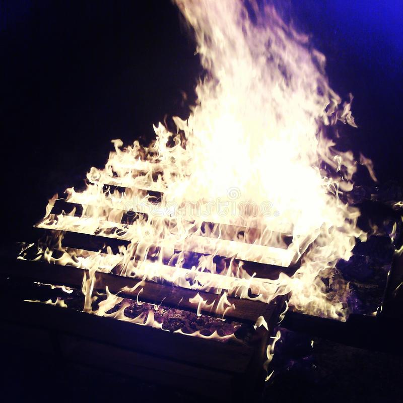 Bonfire stock image