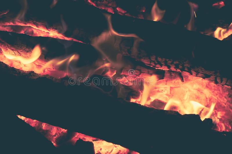 Bonfire campfire night fire flame. nature orange. Bonfire campfire night fire flame burn background. nature orange royalty free stock images