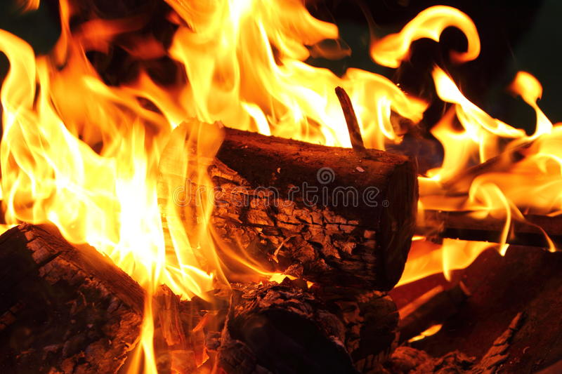 Download Bonfire and flames stock image. Image of flames, embers - 25877309