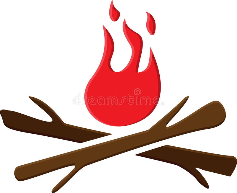 Bonfire stock illustration