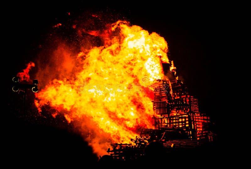 Bonfire inferno royalty free stock photography