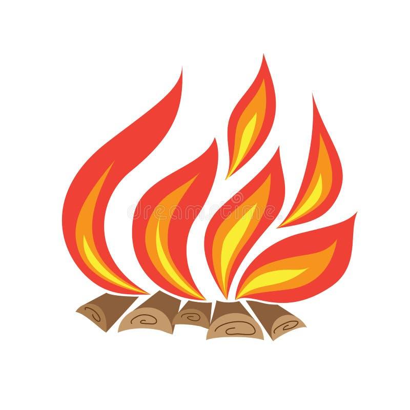 Download Bonfire stock vector. Illustration of outdoor, hardwood - 42175654