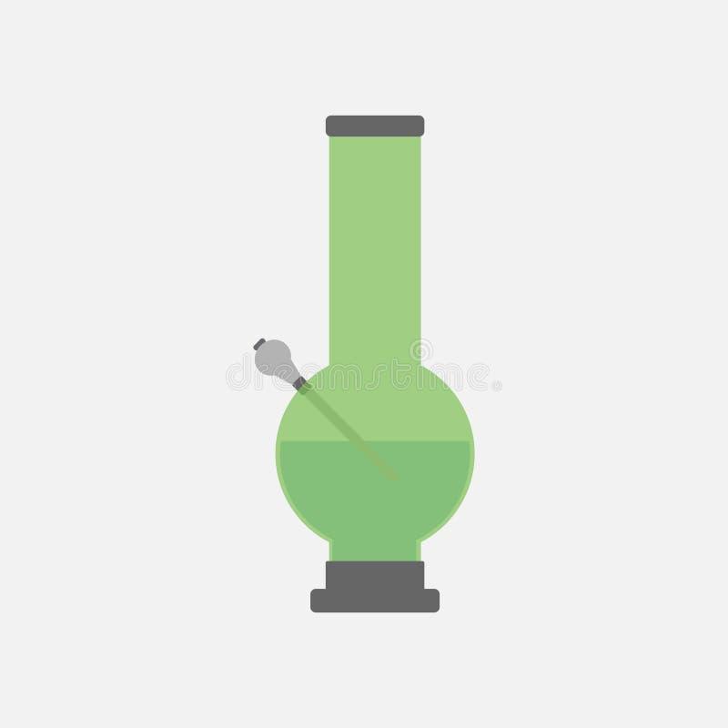 Bong para o ícone de fumo ilustração stock