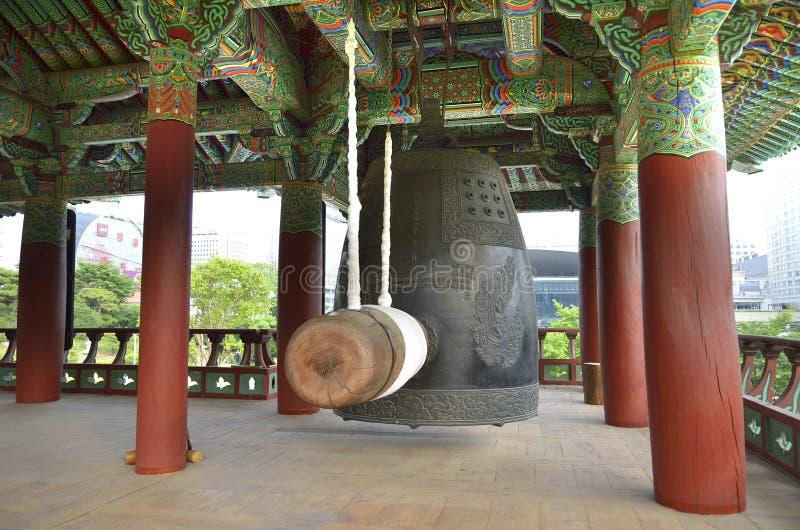 Bongeunsa佛教寺庙在汉城,韩国 图库摄影
