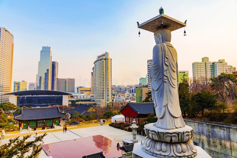 Bongeunsa-Tempel Seoul stockfotografie
