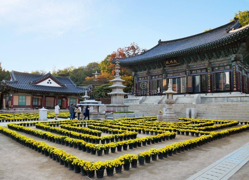 Bongeunsa-Tempel in Seoul, Südkorea stockbild