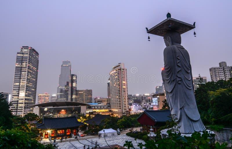 Bongeunsa-Tempel in Seoul, Südkorea lizenzfreies stockfoto