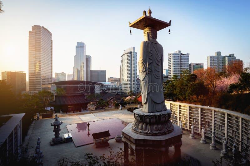 Bongeunsa-Tempel lizenzfreie stockfotografie