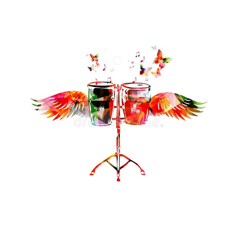 Bongo bębeny z skrzydłami zdjęcie royalty free