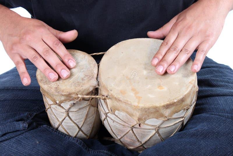 bongo bębnienia ręki fotografia royalty free