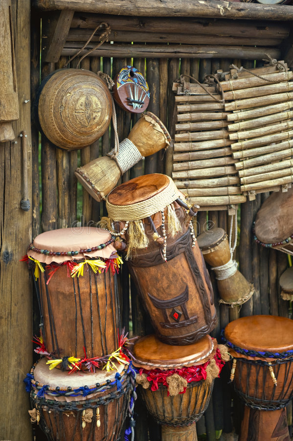 Bongo Drums. Authentic handmade bongo drums for sale royalty free stock image