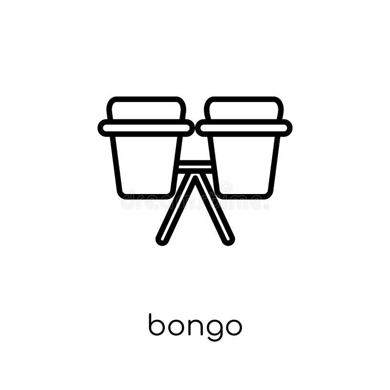 Bongopictogram van Muziekinzameling stock illustratie