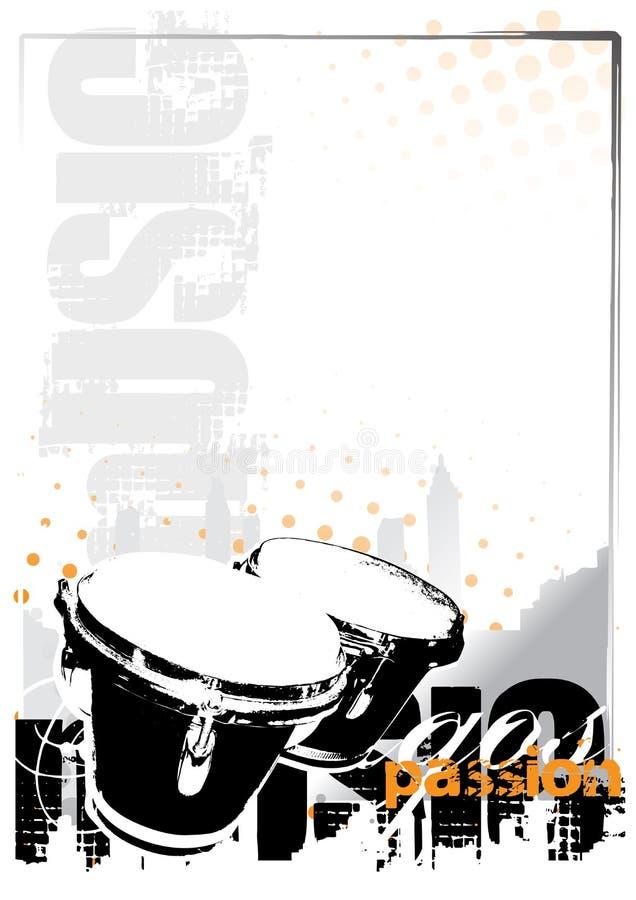 bongos ανασκόπησης απεικόνιση αποθεμάτων
