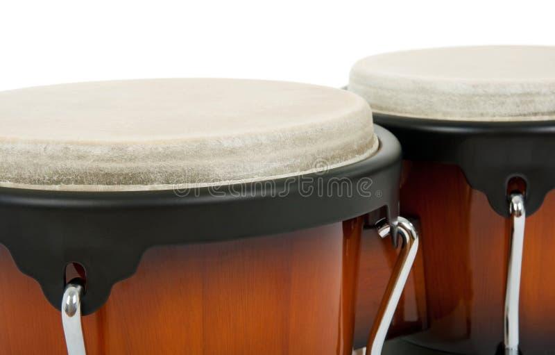 Bongos, lateinisches Perkussionsinstrument stockbilder