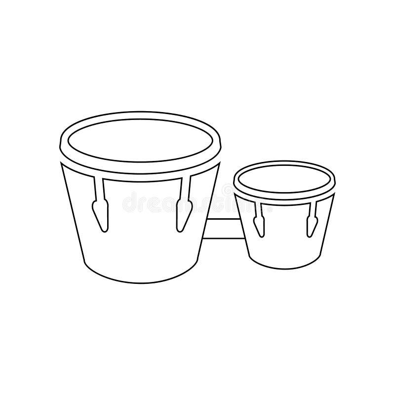 bongospictogram Element van muziekinstrument voor mobiel concept en webtoepassingenpictogram Overzicht, dun lijnpictogram voor we vector illustratie