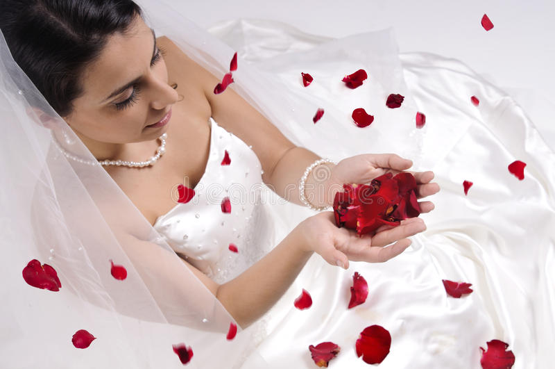 Bonheur de mariée images libres de droits