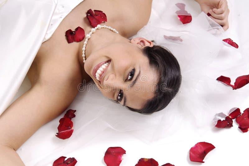Bonheur de mariée images stock