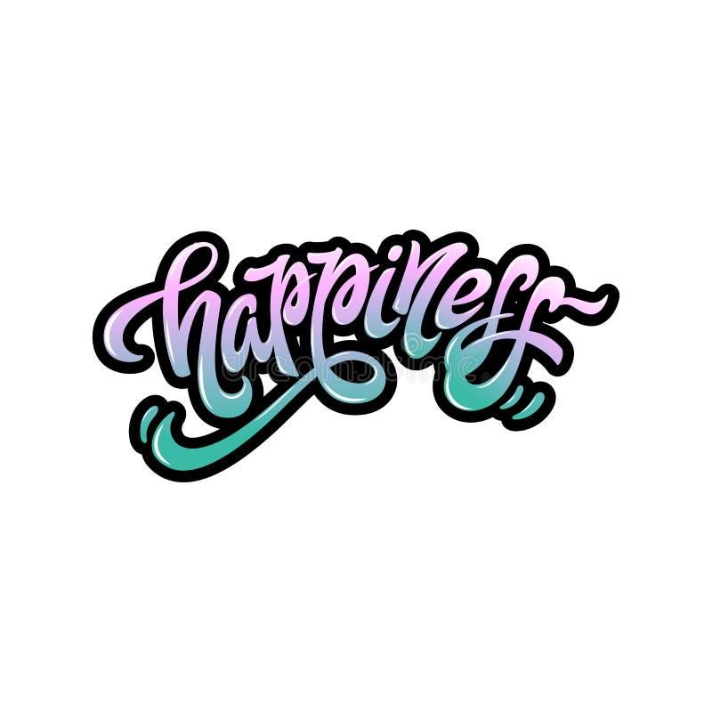 Bonheur de Word dans des styles de graffiti illustration de vecteur