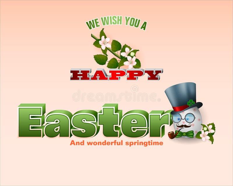 Bonheur des vacances de Pâques, bonheur de printemps illustration stock