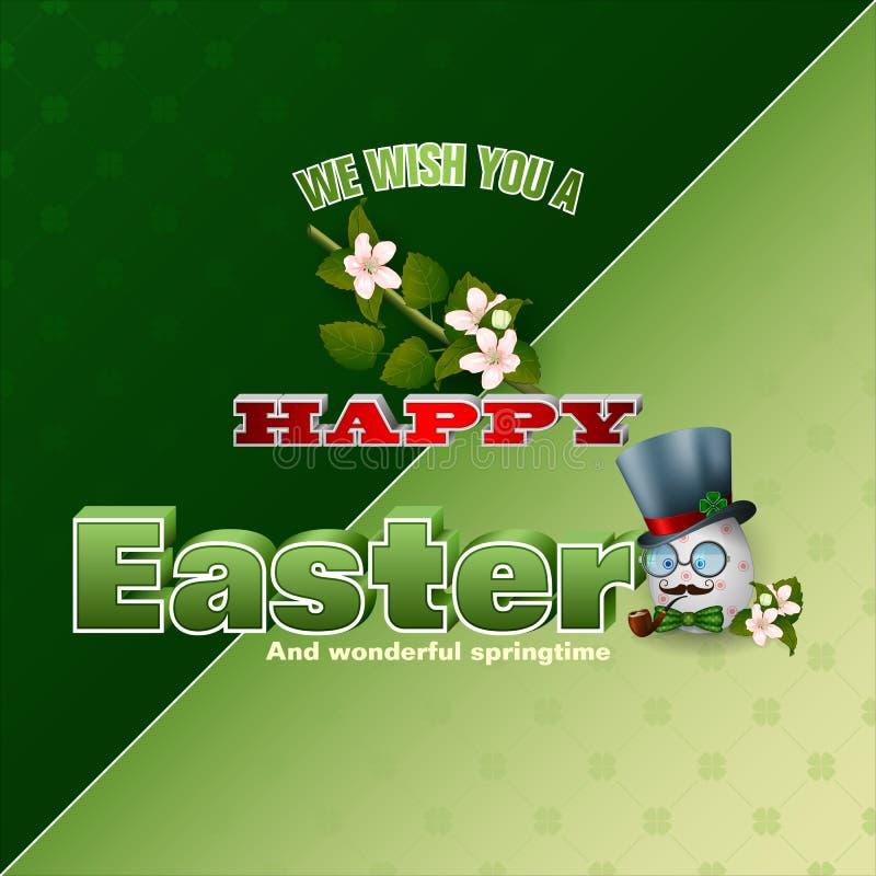 Bonheur des vacances de Pâques, bonheur de printemps illustration de vecteur