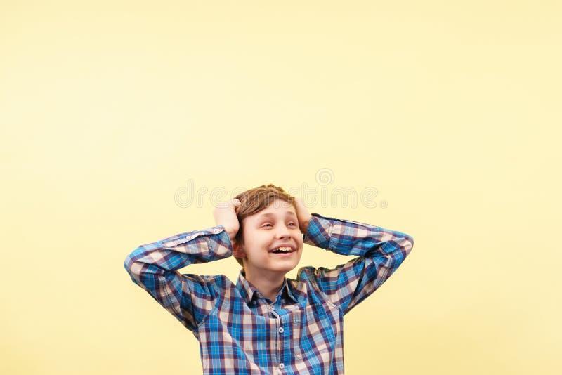 Bonheur, succès et accomplissement, surexcité et enthousiaste photographie stock libre de droits