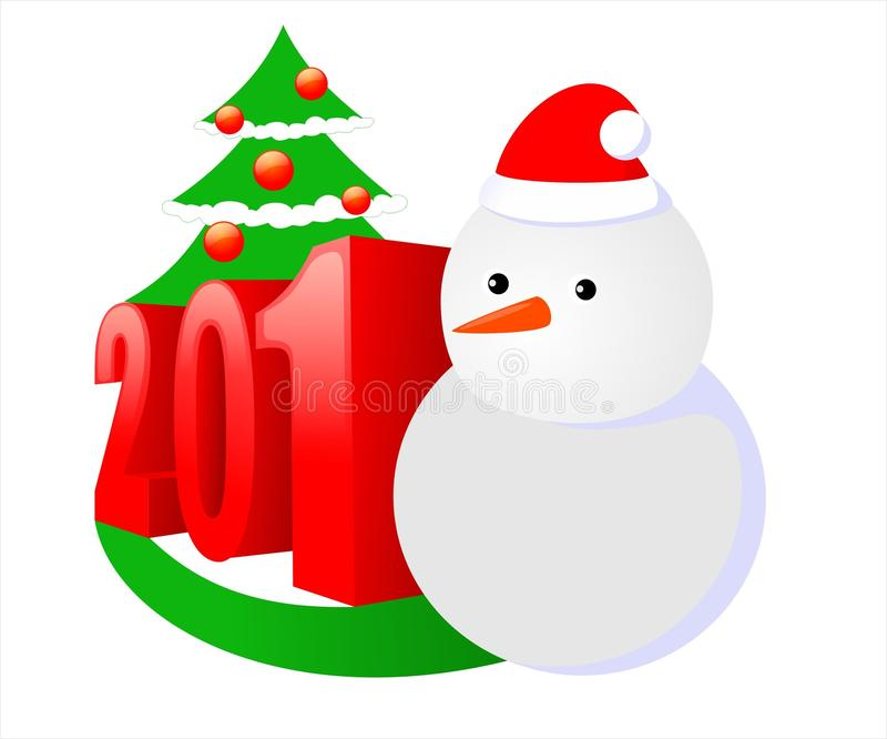 Bonhomme de neige 2018 illustration stock
