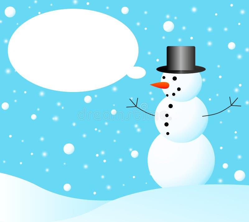 Download Bonhomme de neige illustration stock. Illustration du rouge - 45370611