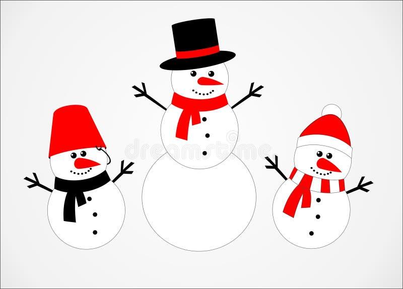 Bonhomme de neige illustration de vecteur