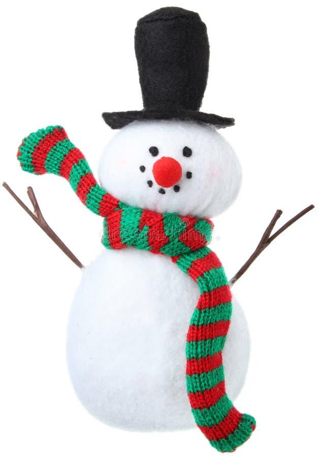 bonhomme de neige d'ornement image stock