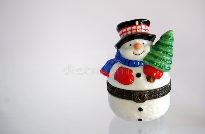 Bonhomme de neige de cadeau de Noël photo stock