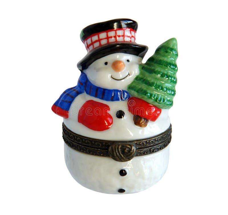Bonhomme de neige de cadeau de Noël image libre de droits