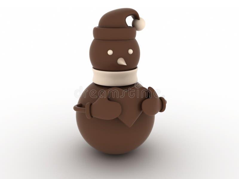 Bonhomme de neige de chocolat illustration stock