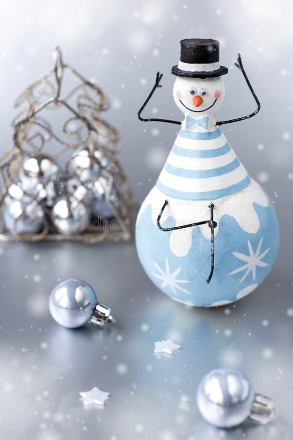 Bonhomme de neige de décoration de Noël photos stock