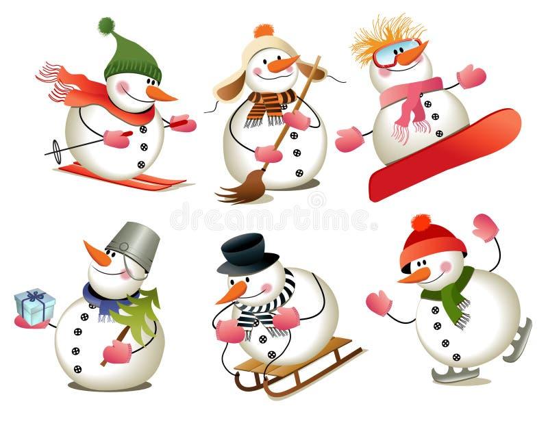 Bonhomme de neige de dessin animé illustration de vecteur